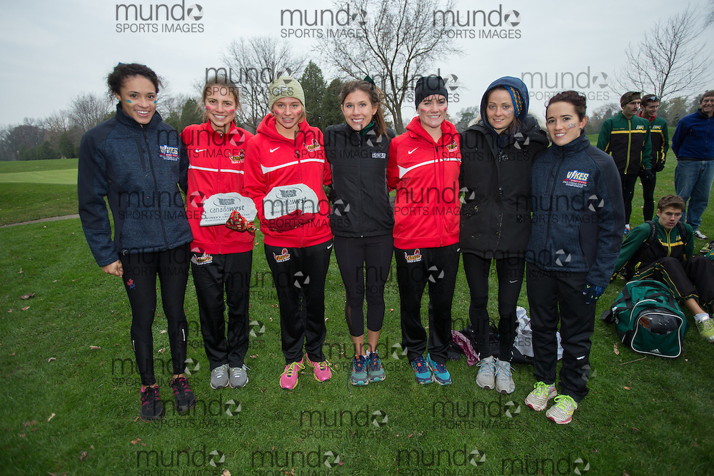 London, Ontario ---2012-11-10---  2nd team All Canada West  at the 2012 CIS Cross Country Championships at Thames Valley Golf Course in London, Ontario, November 10, 2012. .GEOFF ROBINS Mundo Sport Images