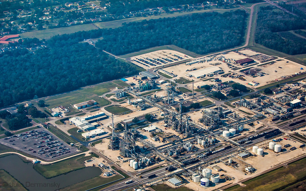 Dupont's Pontchartrain Works in Laplace that produces Neoprene, now owned by  Denka Co. Ltd. and called -Denka Reserve plant, next to community of Reserve, Louisiana, where residents report health problems associated with the emissions for the plant.