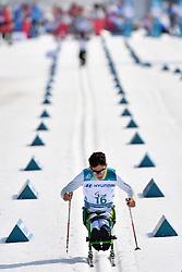 RIBERA Cristian BRA LW11 competing in the ParaSkiDeFond, Para Nordic Skiing, Sprint at  the PyeongChang2018 Winter Paralympic Games, South Korea.