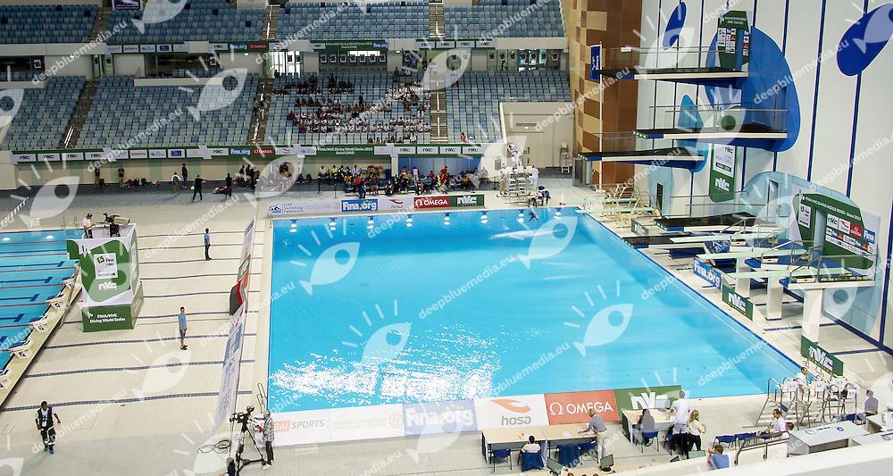 Women 10m. Platform Synchro<br /> FINA/NVD Diving World Series<br /> Hamdan Bin Rashid Bin Mohammed Sport Complex<br /> Dubai 19 - 21  March 2015<br /> Day 1 - March 19 th <br /> Photo Giorgio Scala / Deepbluemedia