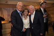 MARTYN LEWIS; RACHEL KELLY; MIKE DICKSON, Launch of The Happy Kitchen: Good Mood Food, by Rachel Kelly and Alice Mackintosh. Squirrel, South Kensington. London. 31 January 2017