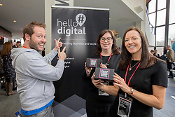 #hellodigital Extra 2017 event, held at Eden Court in Inverness.<br /> <br /> Pictured L-R: Marke Johnstone (Google Digital Garage), Jillian Ney (DRJN), Pauline McLaughlin (Equator)  <br /> <br /> Malcolm McCurrach | EEm | Mon, 20, February, 2017