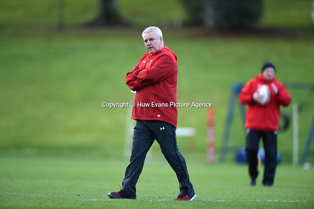 23.11.17 - Wales Rugby Training -<br /> Warren Gatland.