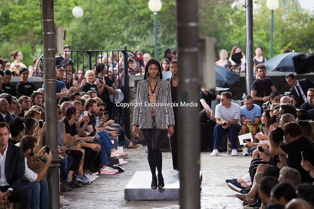 NAOMI CAMPBELL  - TOP MODEL IN THE PARADE GIVENCHY MEN - READY TO WEAR - PARIS FASHION WEEK<br /> &copy;Exclusivepix Media