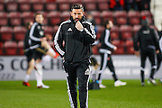 Aberdeen FC Manager Derek McInnes during the Scottish Cup fourth round match between Heart of Midlothian and Aberdeen at Tynecastle Stadium, Gorgie, Scotland on 9 January 2016. Photo by Craig McAllister.