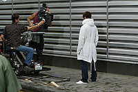 Oasis Heathen Chemistry Video shoot TUE 9 JULY 2002 CITY OF LONDON Moorgate