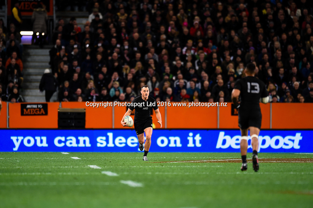 Israel Dagg of the All Blacks during the 3rd Steinlager Series Rugby Union Test match, All Blacks v Wales, at Forsyth Barr Stadium, Dunedin, New Zealand. 25th June 2016. Copyright Photo: John Davidson / www.photosport.nz