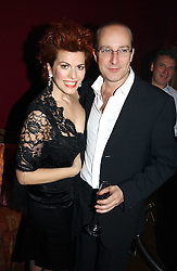 CLEO ROCCOS and PAUL MCKENNA at a party to celebrate the publication of Paul McKenna's new book 'I Can Make You Thin' held at the Soho Hotel, 4 Richmond Mews, London W1 on 8th March 2005.<br />