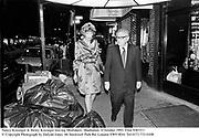 Nancy Kissinger & Henry Kissinger leaving Mortimers. Manhattan. 4 October 1993. Film 9381f11<br />© Copyright Photograph by Dafydd Jones<br />66 Stockwell Park Rd. London SW9 0DA<br />Tel 0171 733 0108
