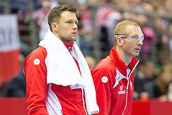 10.04.2016, Ergo Arena, Gdansk, POL, IHF Herren, Olympia Qualifikation, Polen vs Tunesien, im Bild Kamil Syprzak, Karol Bielecki // during the IHF men's Olympic Games handball qualifier between Poland and Tunisia at the Ergo Arena in Gdansk, Poland on 2016/04/10. EXPA Pictures © 2016, PhotoCredit: EXPA/ Newspix/ Tomasz Zasinski<br /> <br /> *****ATTENTION - for AUT, SLO, CRO, SRB, BIH, MAZ, TUR, SUI, SWE only*****
