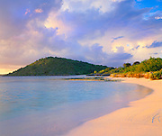 6211-1020CR ~ Copyright: George H. H. Huey ~ Nonsuch Bay with Green Island.  East coast Antigua. Leeward Islands, Lesser Antilles, Caribbean.