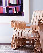 Stamford home, family room vignette. Interior design by Jeffrey Kilmer Design.
