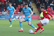 Sean Long and Harry Pickering   during the EFL Sky Bet League 2 match between Crewe Alexandra and Cheltenham Town at Alexandra Stadium, Crewe, England on 18 January 2020.
