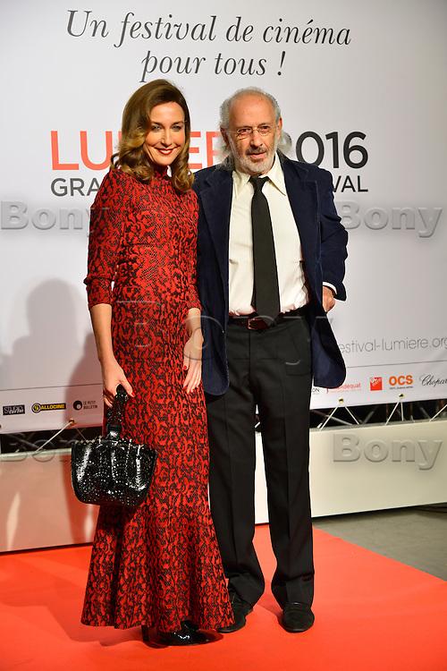 Elsa Zilberstein - Jerry Schwartzberg<br /> Lyon 8 oct 2016 - Festival Lumi&egrave;re 2016 - C&eacute;r&eacute;monie d&rsquo;Ouverture<br /> 8th Film Festival Lumiere In Lyon : Opening Ceremony