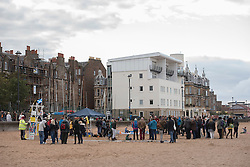 Our Forth event on Portobello beach celebrating the past year of campaigning against fracking and unconventional gas extraction and highlighting the continued campaign towards permanent bans on all forms of unconventional gas extraction.<br /> <br /> © Jon Davey/ EEm