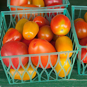 Heirloom Tomatoes at a farm stand in Concord, Massachusetts