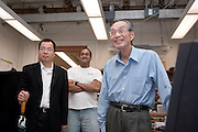 "Yuan-Cheng ""Bert"" Fung, recipient of the 2007 Fritz J. and Dolores H. Russ Prize having breakfast with students in Stocker....David Tees/Doug Goetz lab, ""Leukocyte Adhesion in Capillary Sized Microvessels""..Left to right:..Wei Huang(UCSD Associate project scientist) , Prithu Sundd, and Yuan-Cheng ""Bert"" Fung.....Russ Prize winner to speak on biomechanics..Yuan-Cheng ""Bert"" Fung, recipient of the 2007 Fritz J. and Dolores H. Russ Prize, will give a public lecture titled, ?Biomechanics: The Road to Understanding Living Systems,? from 2:10 to 3 p.m. Thursday, Sept. 27, in Ohio University's Baker University Center Theatre.  ..Widely considered the father of modern biomechanics, Fung's diverse research endeavors have formed the basis for the entire field of automotive safety design. They also contributed to the development of artificial skin, improved the effectiveness and longevity of prosthetic devices and enabled the military to develop safer non-lethal weapons and personal body armor. Fung is currently a professor emeritus of bioengineering at the University of California, San Diego, where he founded the bioengineering program...In addition to his public lecture, Fung will also tour Ohio University biomedical engineering labs and meet with Ohio University faculty, leaders, and the Russ College Engineering Ambassadors. ..The late Ohio University graduate Fritz Russ and his wife, Dolores, created the Russ Prize in 1999. The $500,000 award, one of the top three engineering prizes in the world, recognizes engineering achievement that significantly improves the human condition. All Russ Prize winners are invited to give a lecture at Ohio University...Fung's lecture is free and open to the public. A reception will follow outside the theater."