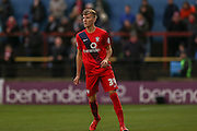 York City defender, on loan from Middlesbrough, Mark Kitching  during the Sky Bet League 2 match between York City and Accrington Stanley at Bootham Crescent, York, England on 28 November 2015. Photo by Simon Davies.