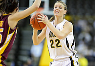 February 18, 2010: Iowa forward Kelsey Cermak (22) during the second half of the NCAA women's basketball game at Carver-Hawkeye Arena in Iowa City, Iowa on February 18, 2010. Iowa defeated Minnesota 75-54.