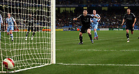 Photo: Paul Thomas.<br /> Manchester City v Chelsea. The Barclays Premiership. 14/03/2007.<br /> <br /> Frank Lampard scores for Chelsea.