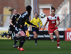 Bristol Academy's Gabbie Simmons-Bird in action during the UEFA Women's Champions League match between Bristol Academy Women and FFC Frankfurt at Ashton Gate on 21 March 2015 in Bristol, England - Photo mandatory by-line: Paul Knight/JMP - Mobile: 07966 386802 - 21/03/2015 - SPORT - Football - Bristol - Ashton Gate Stadium - Bristol Academy v FFC Frankfurt - UEFA Women's Champions League