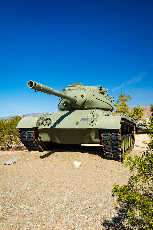 WWII Army tank at the General Patton Memorial Museum, Indio, California USA