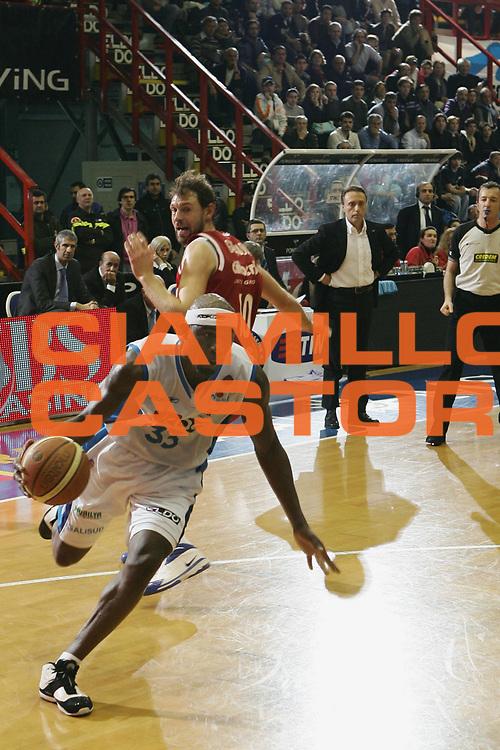 DESCRIZIONE : Napoli Lega A1 2007-08 Eldo Napoli Cimberio Varese<br /> GIOCATORE : Jumaine Jones<br /> SQUADRA : Eldo Napoli<br /> EVENTO : Campionato Lega A1 2007-2008 <br /> GARA : Eldo Napoli Cimberio Varese<br /> DATA : 01/03/2008<br /> CATEGORIA : Penetrazione<br /> SPORT : Pallacanestro <br /> AUTORE : Agenzia Ciamillo-Castoria/A.De Lise