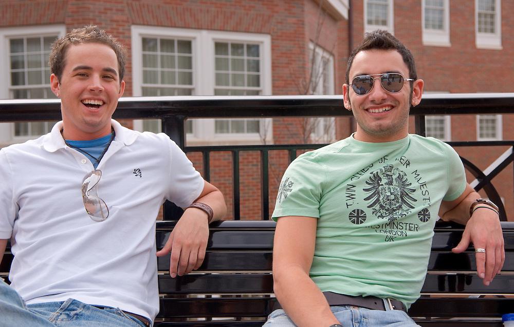 Aaron Huffman, Austin Kelly(left)