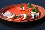 Tomato, mozzarella cheese and basil