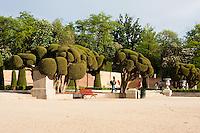 parque del retiro in madrid, spain