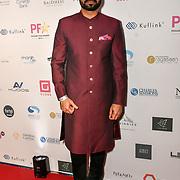 Binnu Dhillon attend the BritAsiaTV Presents Kuflink Punjabi Film Awards 2019 at Grosvenor House, Park Lane, London,United Kingdom. 30 March 2019