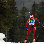Winter Olympics, Vancouver, 2010. Liv Kjersti Eikeland, Norway, in action during the Women's 7.5 KM Sprint Biathlon at The Whistler Olympic Park, Whistler, during the Vancouver  Winter Olympics. 13th February 2010. Photo Tim Clayton
