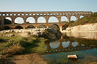 Pont du Gard, the ancient Roman Aqueduct, in Languedoc, France..Photo by Owen Franken for the NY Times..October 6., 2007..Assignment ID: 30049869A