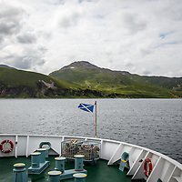 The Caledonian MacBrayne ferry from Kennacraig approaches the Isle of Islay, Scotland, July 14, 2015. Gary He/DRAMBOX MEDIA LIBRARY
