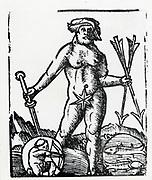 Planetary figure of Jupiter. From 'Sphaera mundi', Strasburg, 1539.