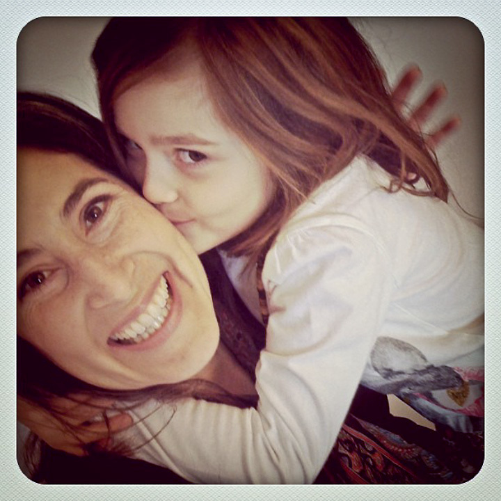 4.27.2012  Motivational speaker, Aliza Sherman Risdahl, and her daughter, Noah, photographed with an iPhone, Anchorage