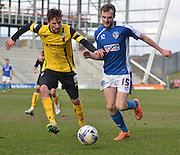 Carl Winchesteron the chase during the Sky Bet League 1 match between Oldham Athletic and Barnsley at Boundary Park, Oldham, England on 14 March 2015. Photo by Mark Pollitt.