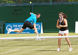 MANCHESTER, ENGLAND: Beth Askew (GBR) and Richard Krajicek (NED) on Day 3 of the Manchester Masters Tennis Tournament at the Northern Tennis Club. (Pic by David Tickle/Propaganda)