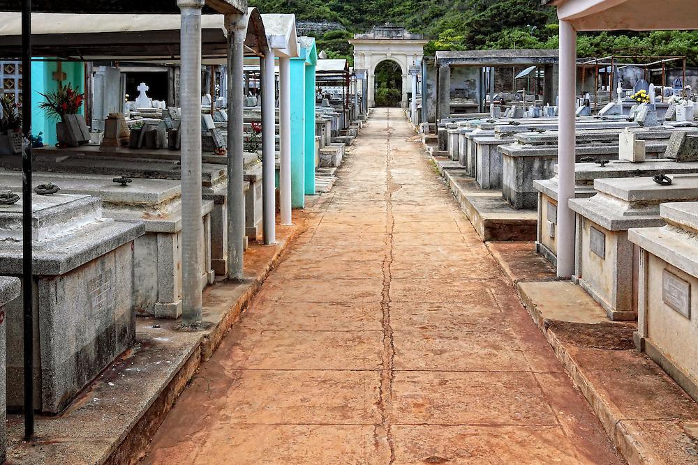 Cemetery in Santa Cruz del Norte, Mayabeque, Cuba.