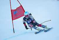 Giant slalom race for Collegiate Carnival at Attitash January 24, 2014.  ©2014 Karen Bobotas Photographer