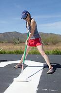 Airmarking Grapevine airport near Roosevelt Lake with Arizona Pilot Assoc. members and Phoenix 99s