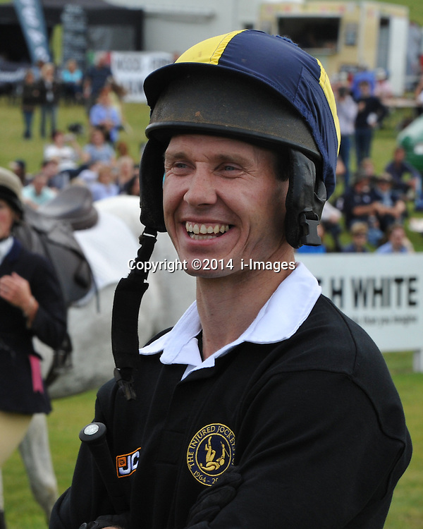 Image ©Licensed to i-Images Picture Agency. 05/07/2014. Barbury, United Kingdom. Day 3. JJockey Richard Johnson during JCB Challenge. Picture by i-Images
