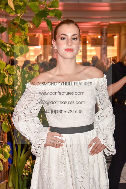 "Stefanie Martini at the opening of ""Frida Kahlo: Making Her Self Up"" Exhibition at the V&A Museum, London England. 13 June 2018."