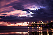 Stormy Clouds Over San Clemente Pier