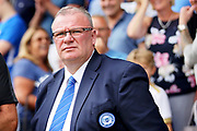 Peterborough United manager Steve Evans  before the EFL Sky Bet League 1 match between Peterborough United and Luton Town at London Road, Peterborough, England on 18 August 2018.