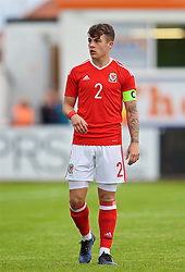 RHYL, WALES - Monday, September 4, 2017: Wales' captain Mitchell Clark during an Under-19 international friendly match between Wales and Iceland at Belle Vue. (Pic by Paul Greenwood/Propaganda)