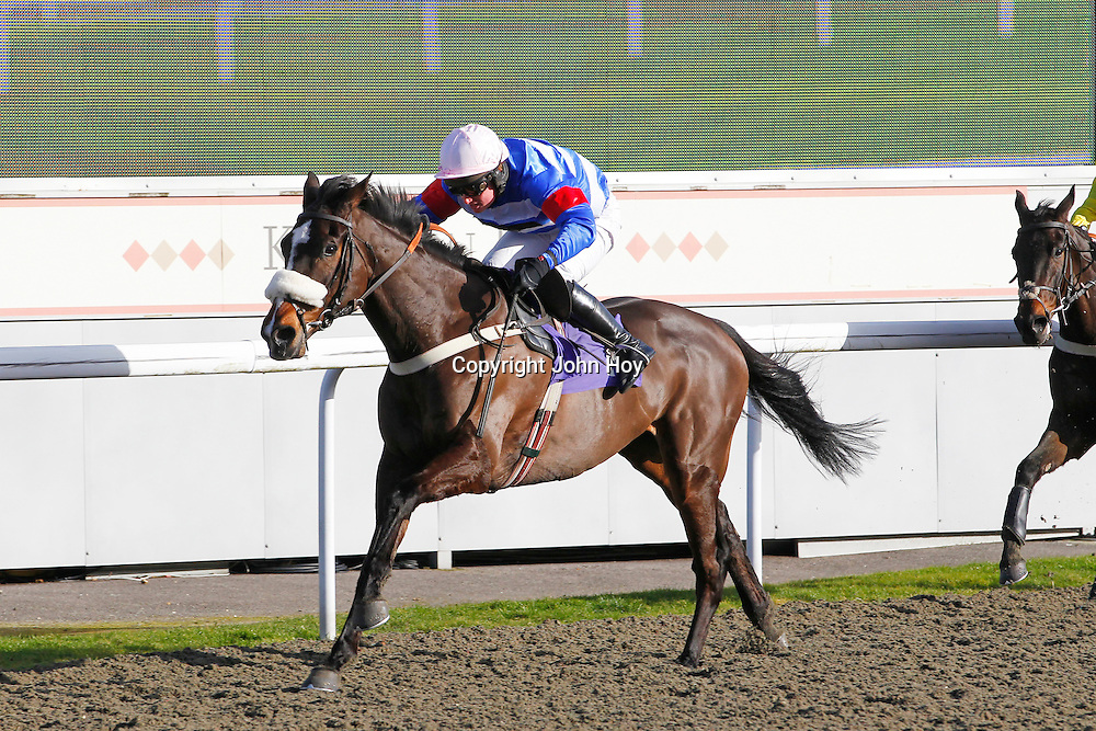 Zulu Oscar and Ryan Mahon winning the 2.30 race