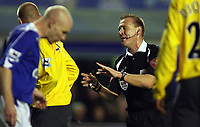 Photo: Paul Thomas.<br /> Everton v Arsenal. Carling Cup. 08/11/2006.<br /> <br /> Referee Graham Poll.