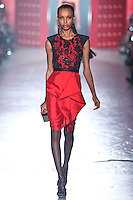 Jasmine Tookes walks down runway for F2012 Jason Wu's collection in Mercedes Benz fashion week in New York on Feb 10, 2012 NYC