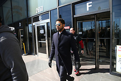 March 26, 2019 - Chicago, Illinois, U.S. - Actor JUSSIE SMOLLETT leaves the Leighton Criminal Court building after all charges were dropped in his disorderly conduct case on Tuesday. Smollett had been accused of staging a hate crime and filing a false police report.(Credit Image: © Antonio Perez/Chicago Tribune/TNS via ZUMA Wire)